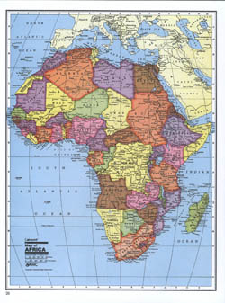 Detailed political map of Africa.