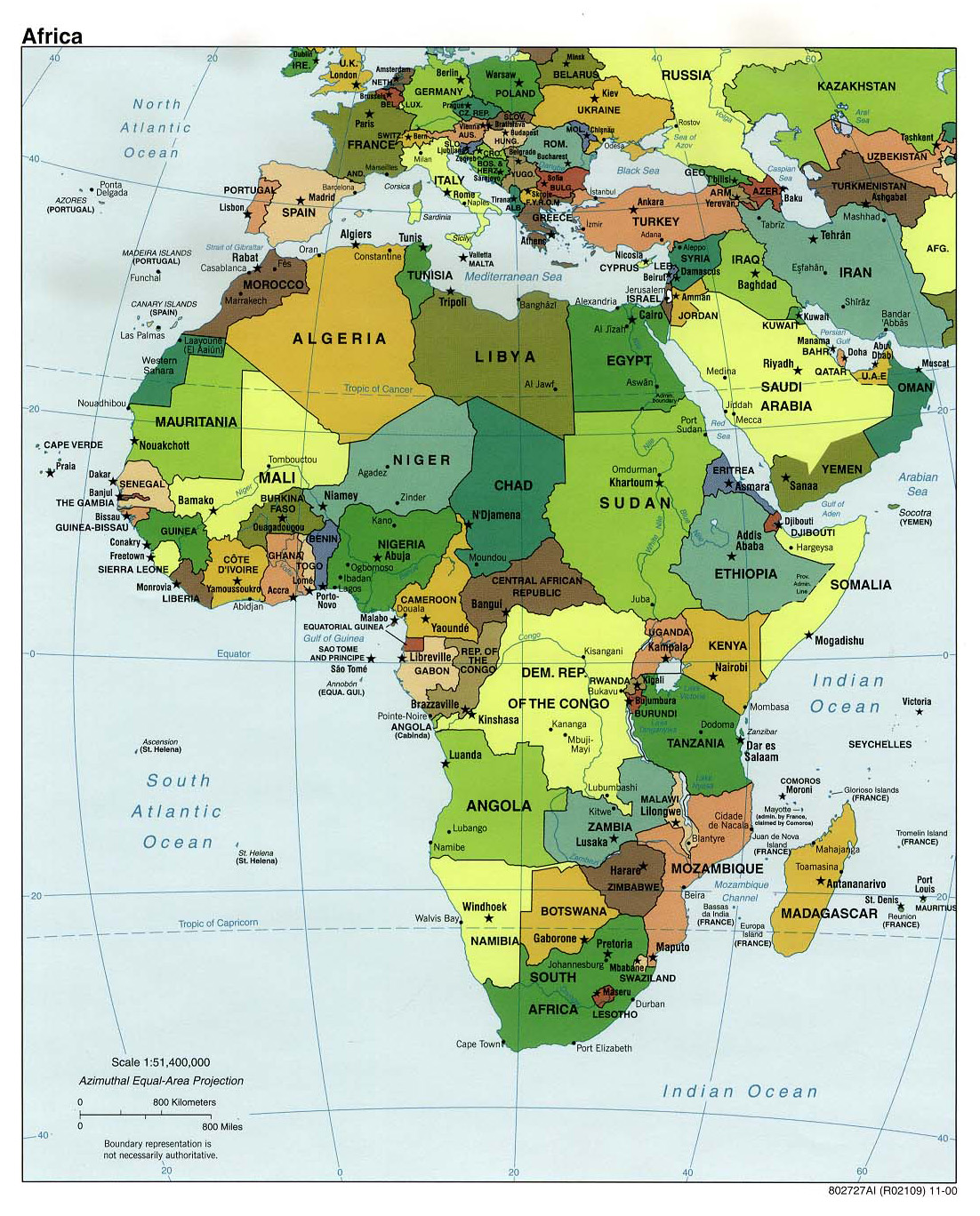 Maps Of Africa And African Countries Political Maps