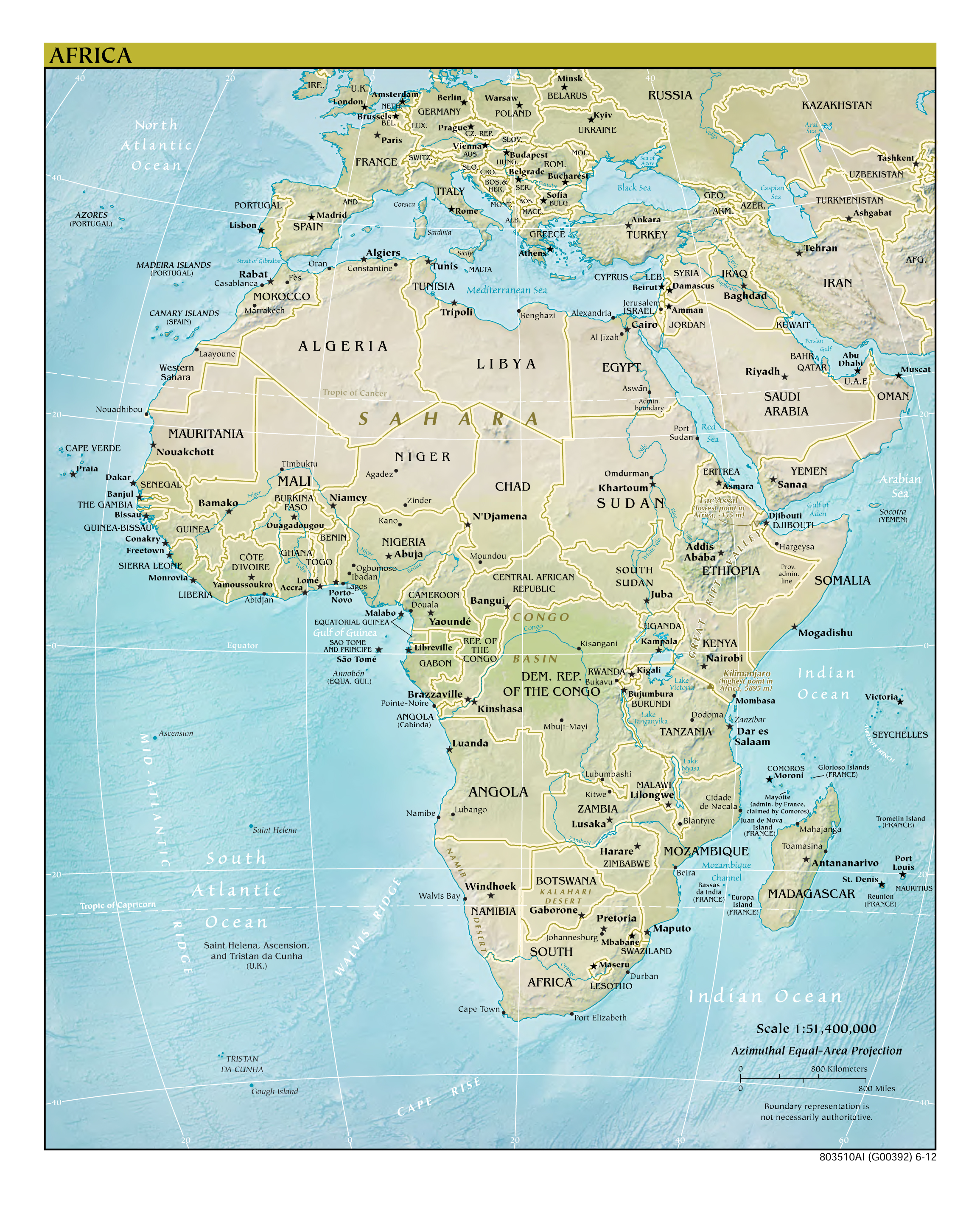 Detailed Map Of Africa Cities.Maps Of Africa And African Countries Political Maps