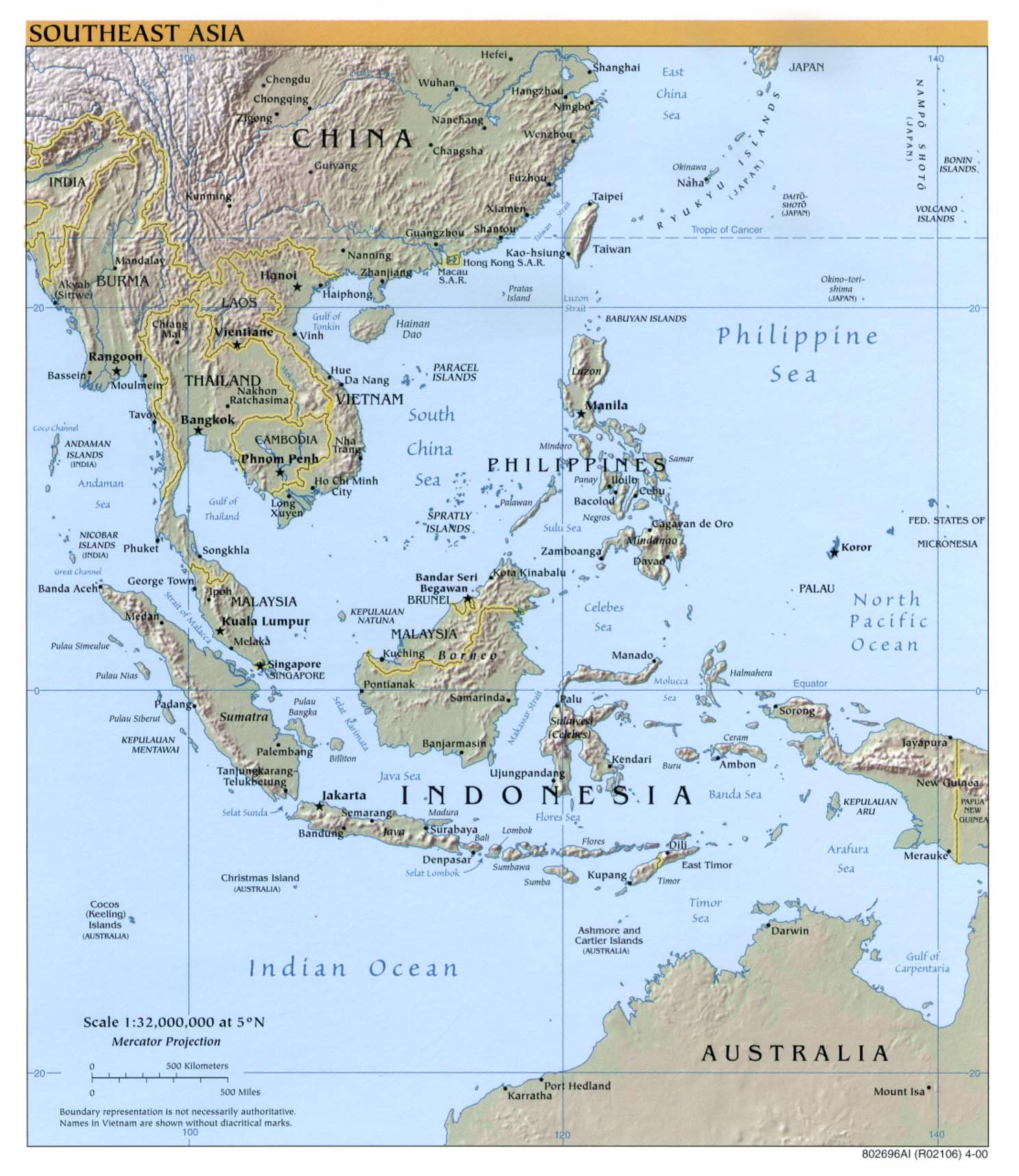 Physical Map Of Central And East Asia.Maps Of Asia And Asia Countries Political Maps Administrative And
