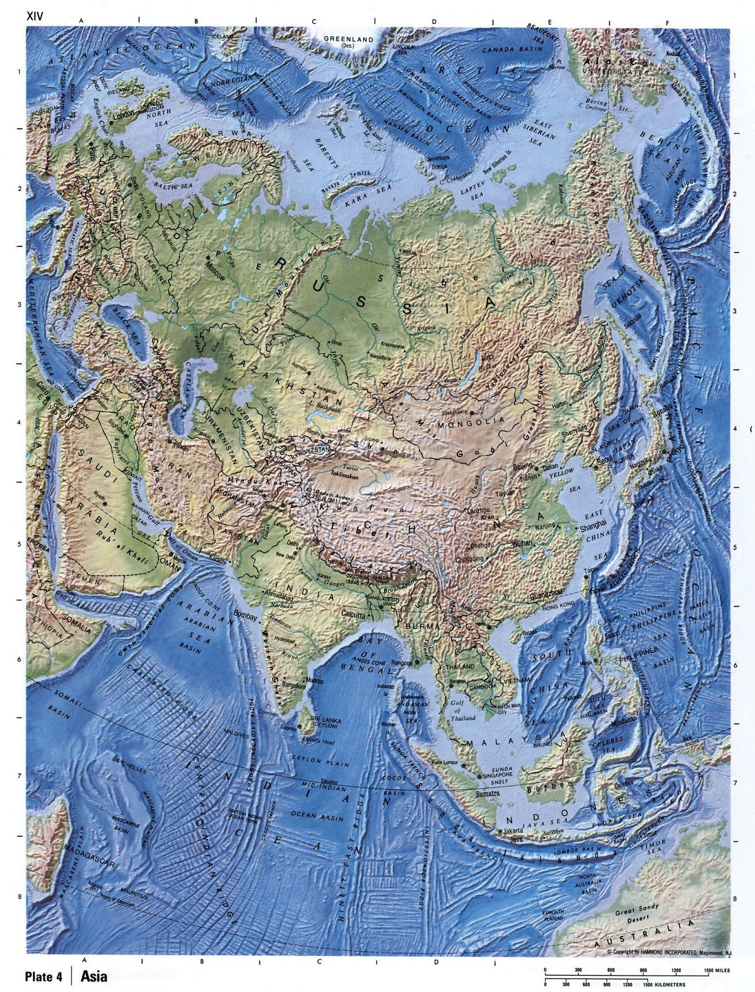 Maps Of Asia And Asia Countries Political Maps Administrative - Relief map of canada