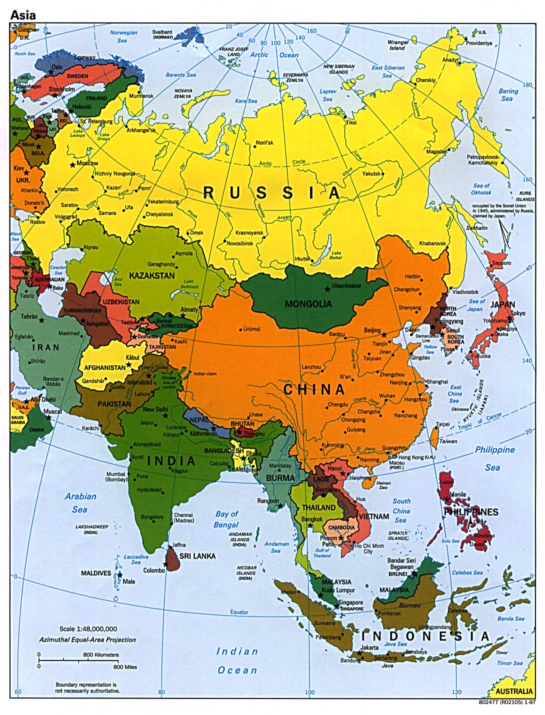 Map Of Asia Hd Image.Maps Of Asia And Asia Countries Political Maps Administrative And