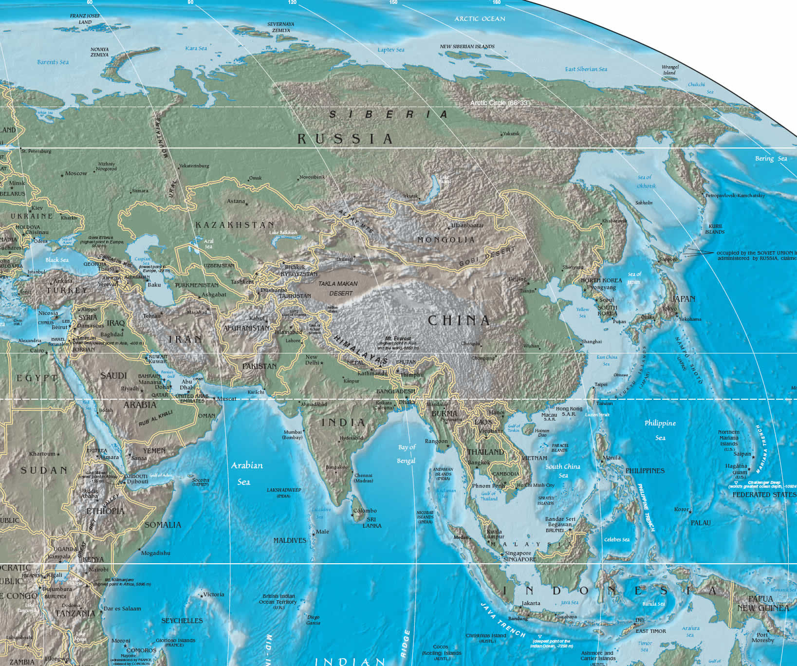 Large Map Of Asia.Maps Of Asia And Asia Countries Political Maps Administrative And