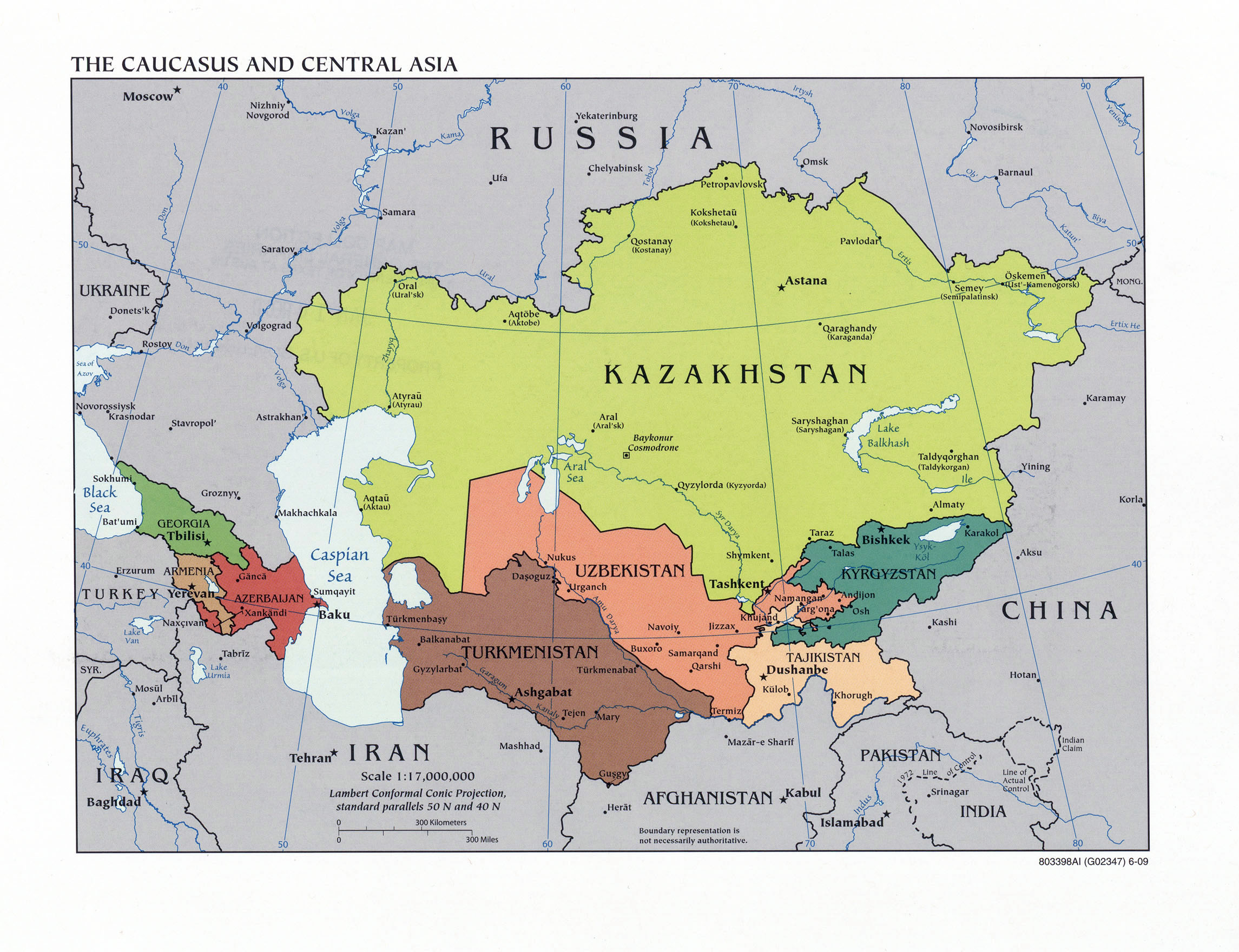 Maps Of Asia And Asia Countries Political Maps Administrative - Central asia political map