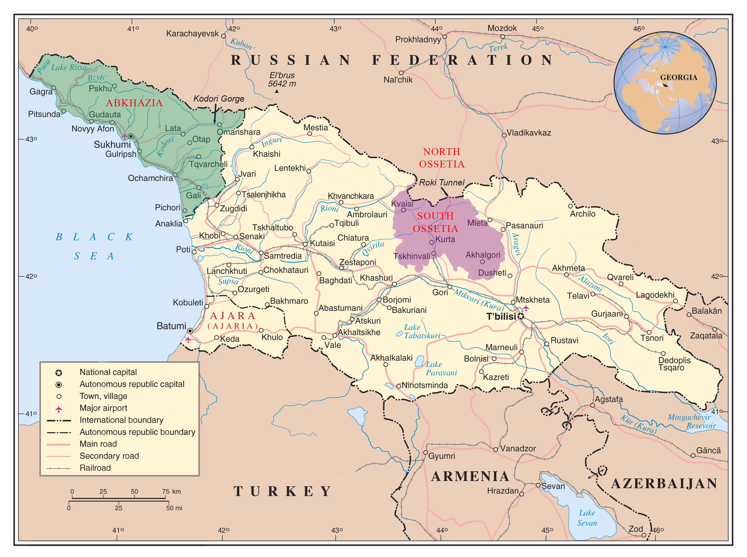 Maps of Abkhazia | Detailed map of Abkhazia in English ... Map Of on early world maps, contour line, geographic coordinate system, satellite imagery, map projection, aerial photography, global map, geographic information system,