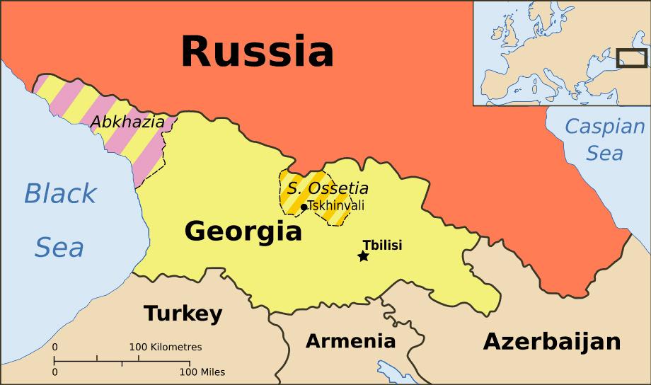 Maps of Abkhazia Detailed map of Abkhazia in English Tourist map