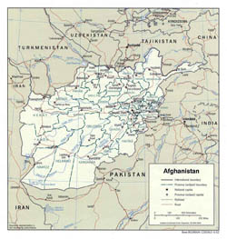 Detailed political and administrative map of Afghanistan - 2002.