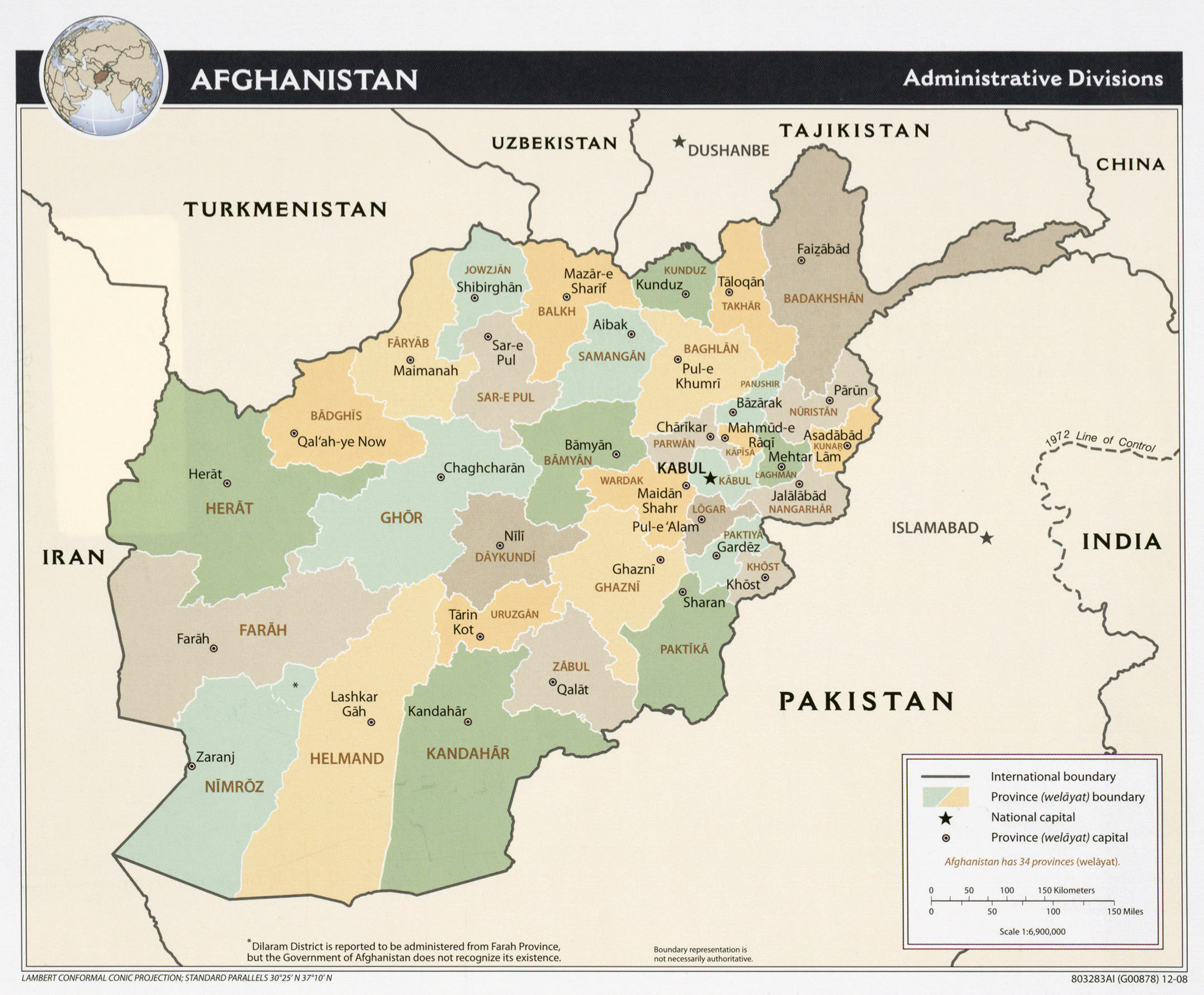 Maps of afghanistan detailed map of afghanistan in english large administrative divisions map of afghanistan 2008 gumiabroncs Images