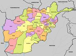 Large administrative map of Afghanistan.