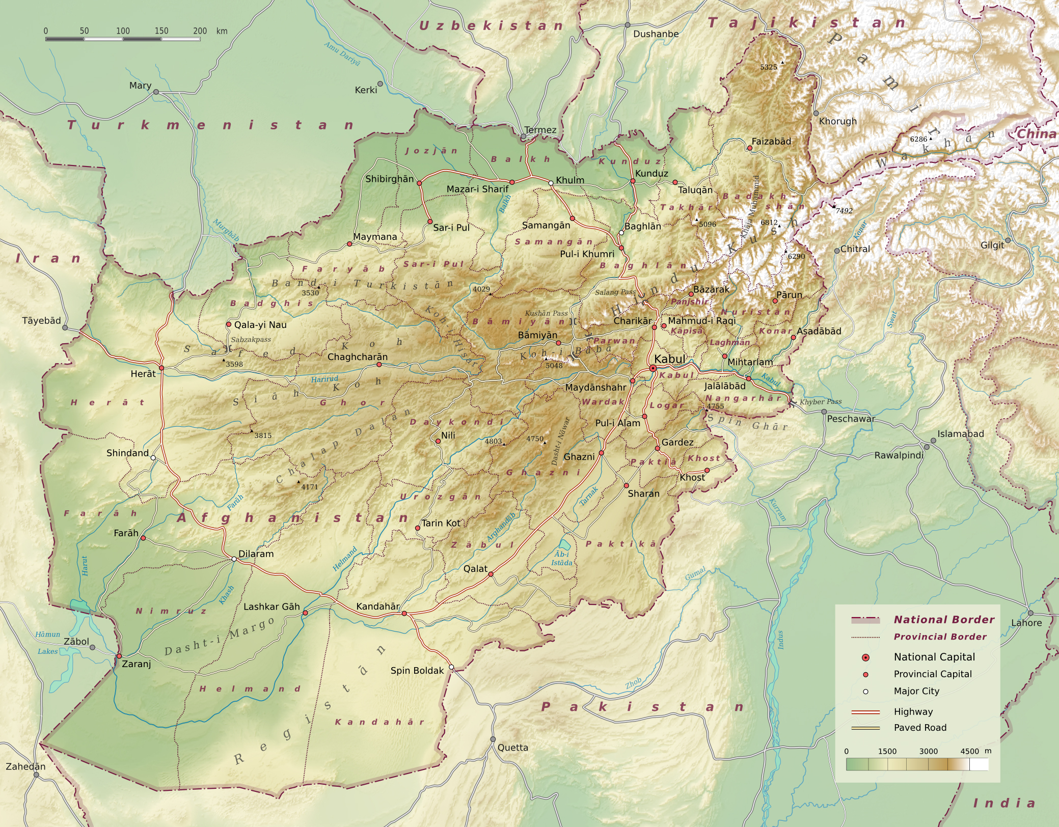 Maps of Afghanistan | Detailed map of Afghanistan in English ...