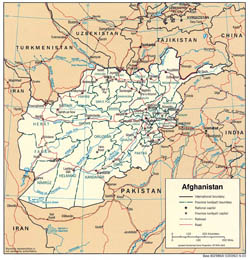 Large detailed political and administrative map of Afghanistan - 2003.