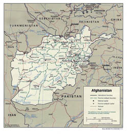 Large political and administrative map of Afghanistan - 2001.