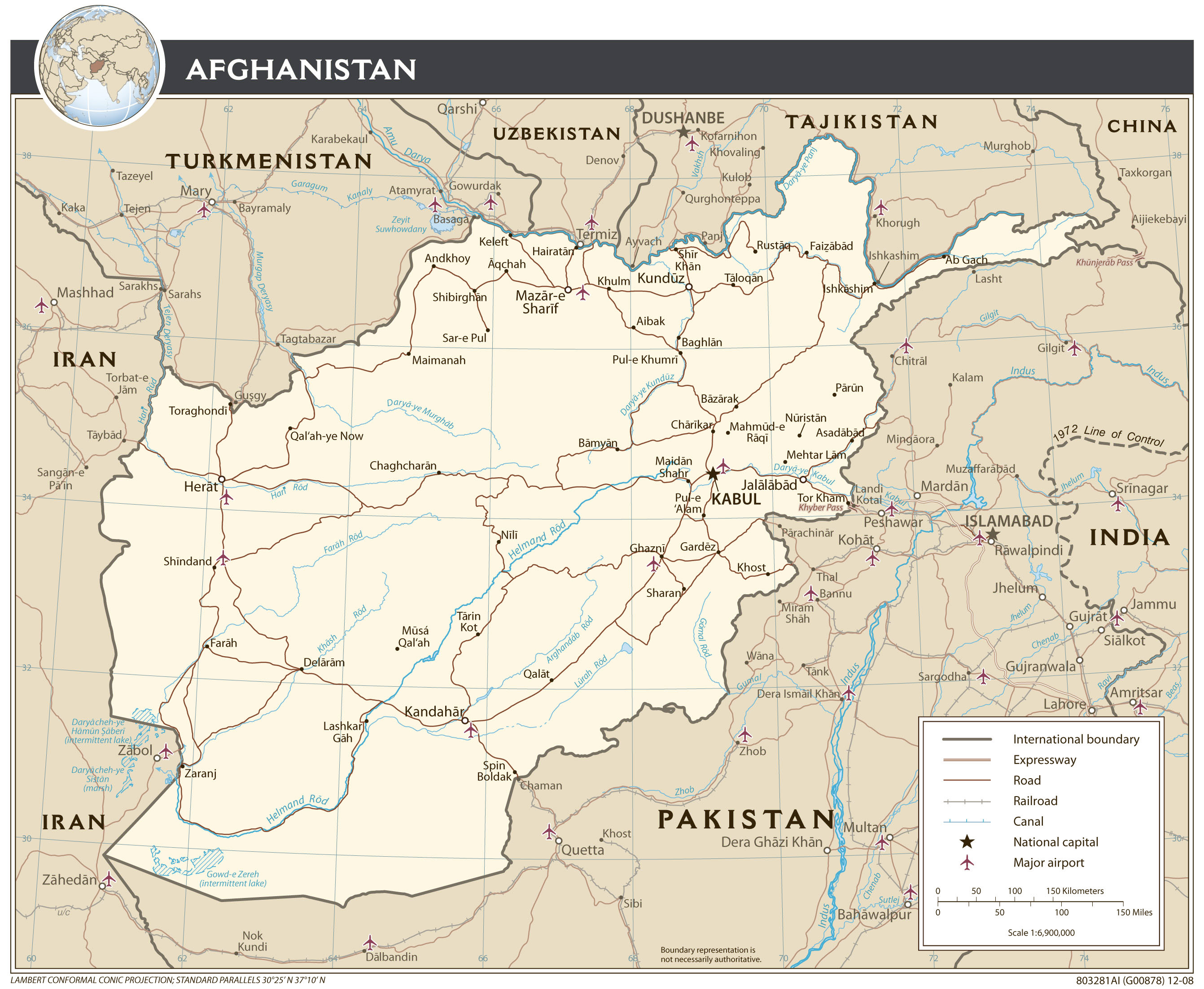 Maps Of Afghanistan Detailed Map Of Afghanistan In English - Afghanistan political map