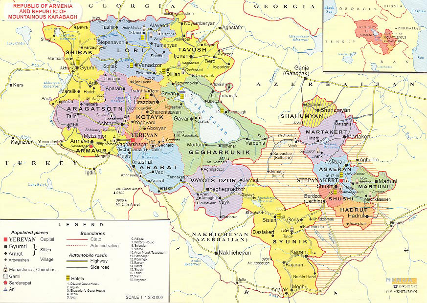 Maps Of Armenia Detailed Map Of Armenia In English Tourist Map - Armenia physical map