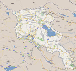 Detailed road map of Armenia.