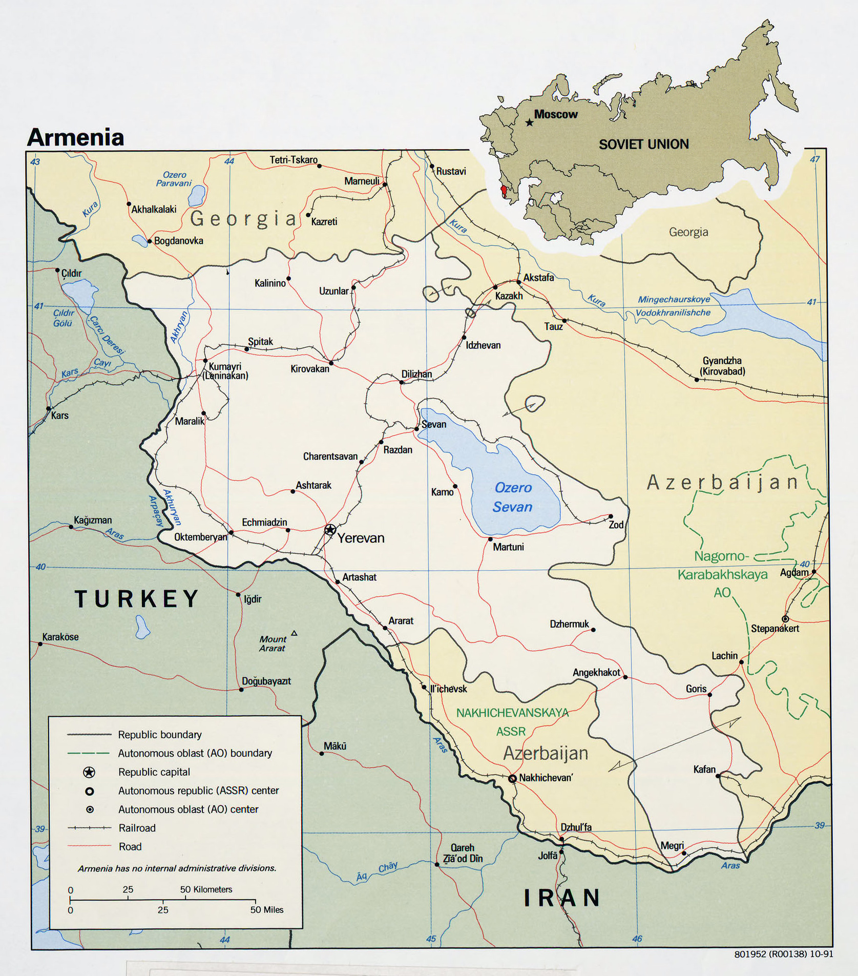 Maps of Armenia | Detailed map of Armenia in English ...