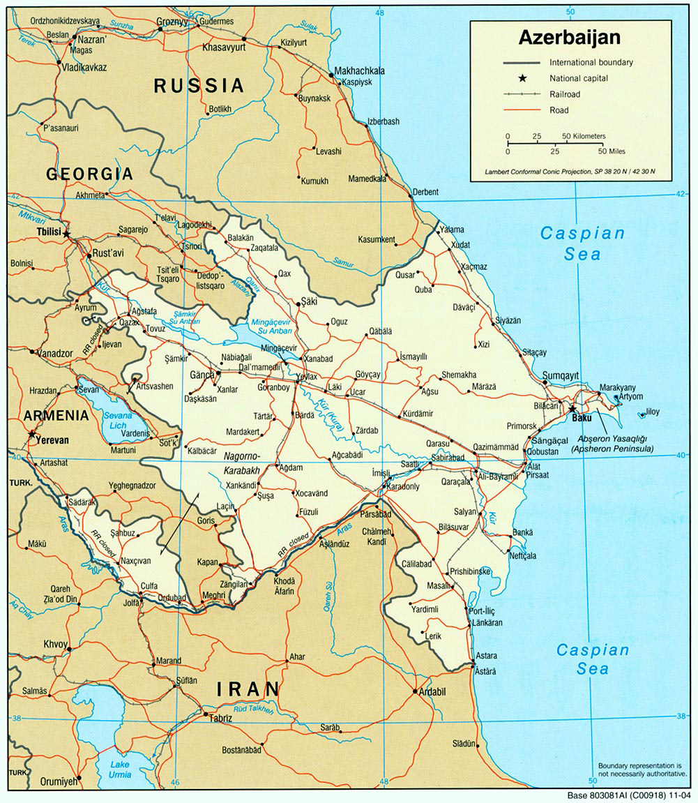 Maps Of Azerbaijan Detailed Map Of Azerbaijan In English Tourist Map Of Azerbaijan Road Map Of Azerbaijan Political Administrative Relief Physical Map Of Azerbaijan