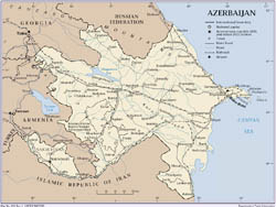 Political map of Azerbaijan.