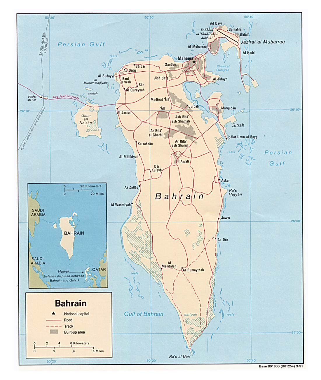 Maps of Bahrain | Detailed map of Bahrain in English | Tourist map ...