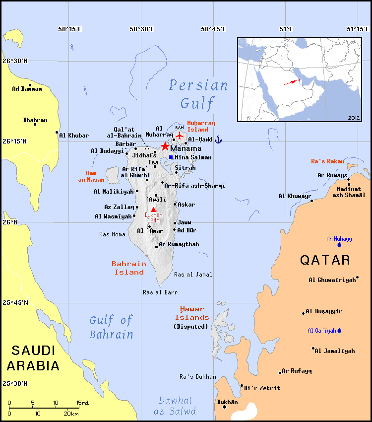 Maps of Bahrain | Detailed map of Bahrain in English | Tourist map