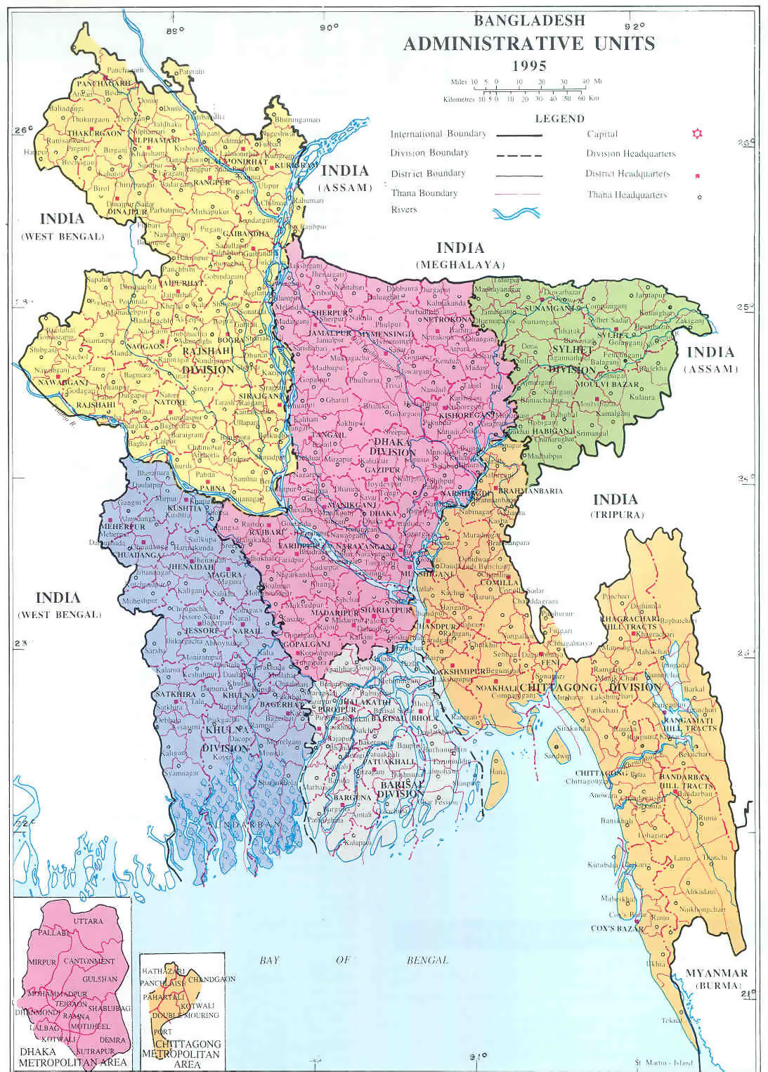 Maps of bangladesh detailed map of bangladesh in english tourist large administrative map of bangladesh gumiabroncs Gallery