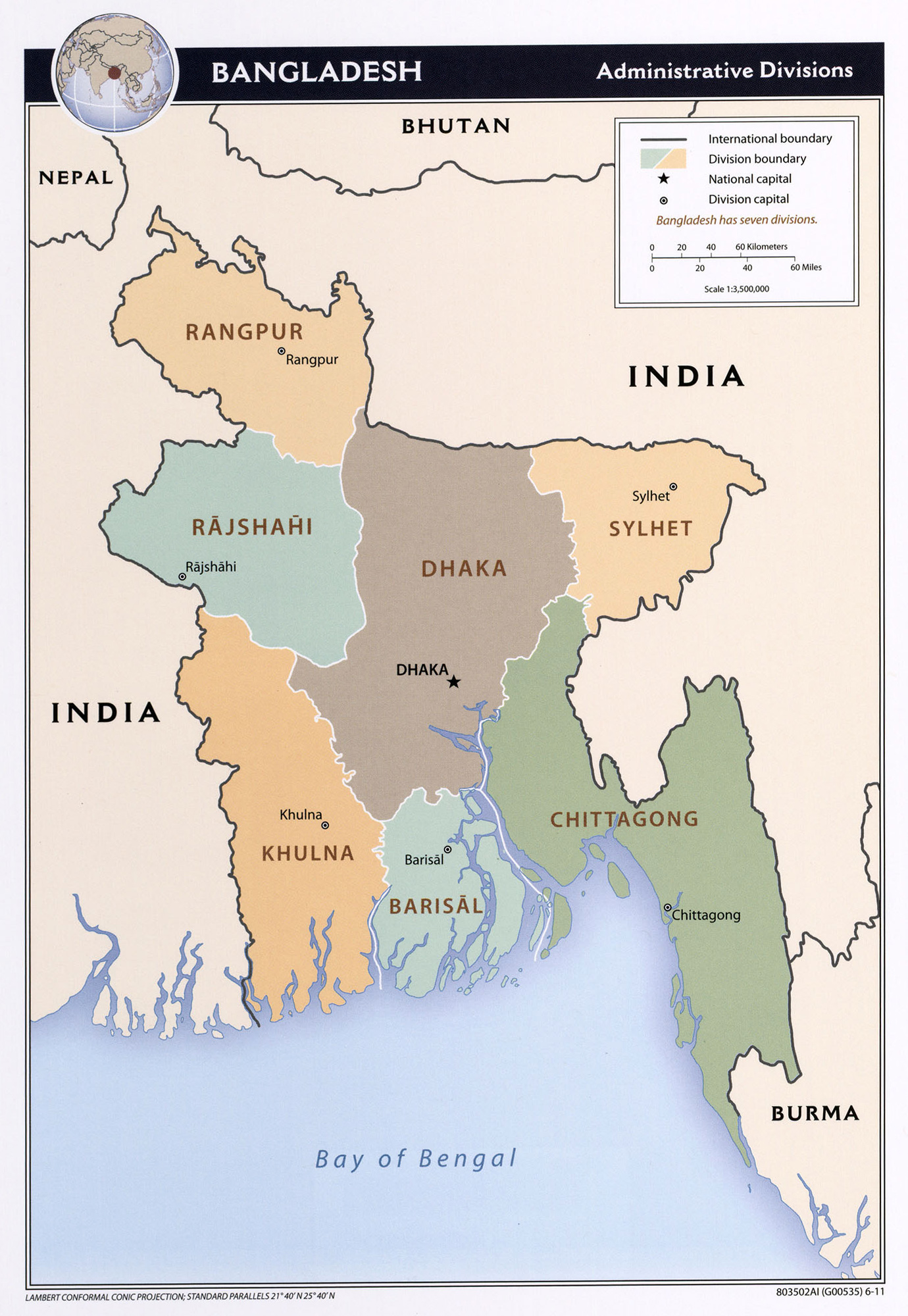 Maps of bangladesh detailed map of bangladesh in english tourist large detailed administrative divisions map of bangladesh 2011 gumiabroncs Image collections