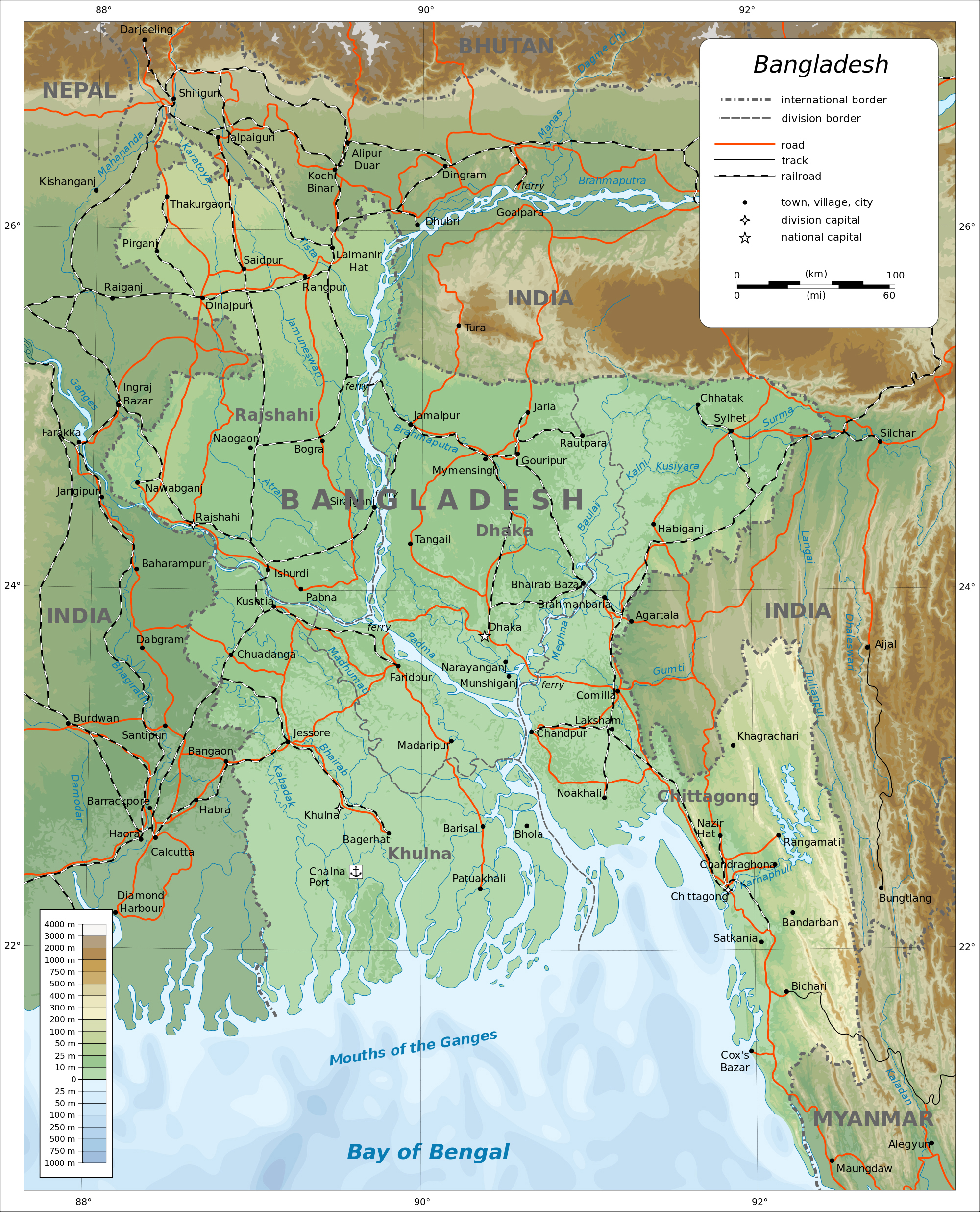 Maps of Bangladesh | Detailed map of Bangladesh in English | Tourist ...