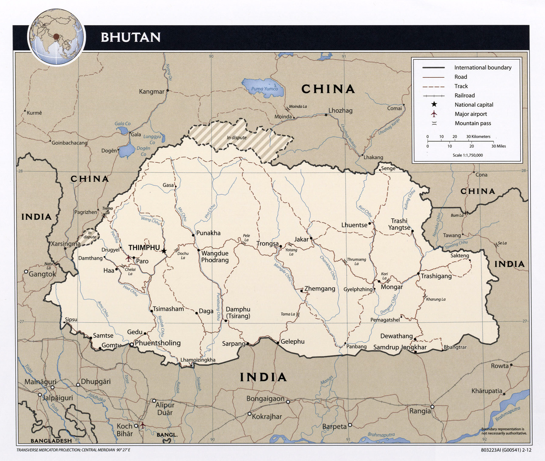 Map Of Asia Bhutan.Maps Of Bhutan Detailed Map Of Bhutan In English Tourist Map Of
