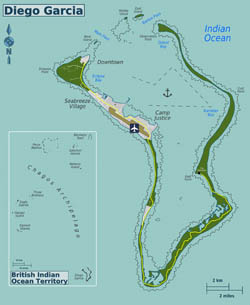 Large detailed map of Diego Garcia Island, British Indian Ocean Territory.