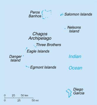 Maps of British Indian Ocean Territory Detailed map of British