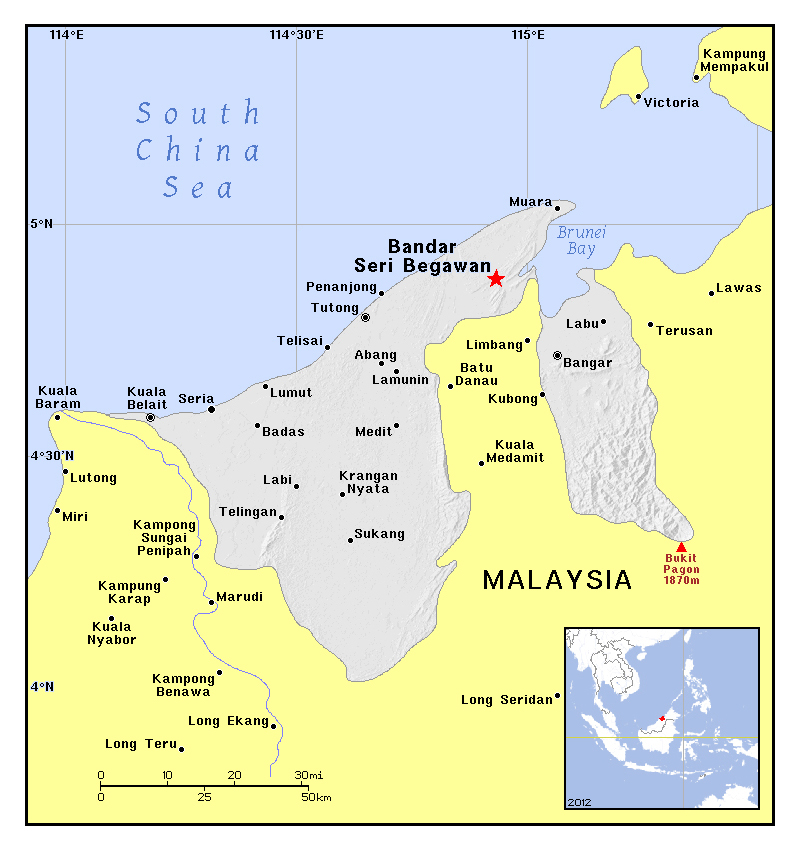 Maps of Brunei Detailed map of Brunei in English Tourist map of