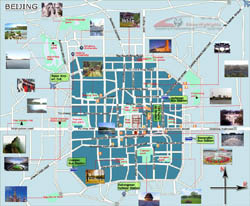Detailed tourist map of Beijing city.