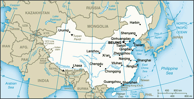 Maps of China | Detailed map of China in English | Tourist map of ...