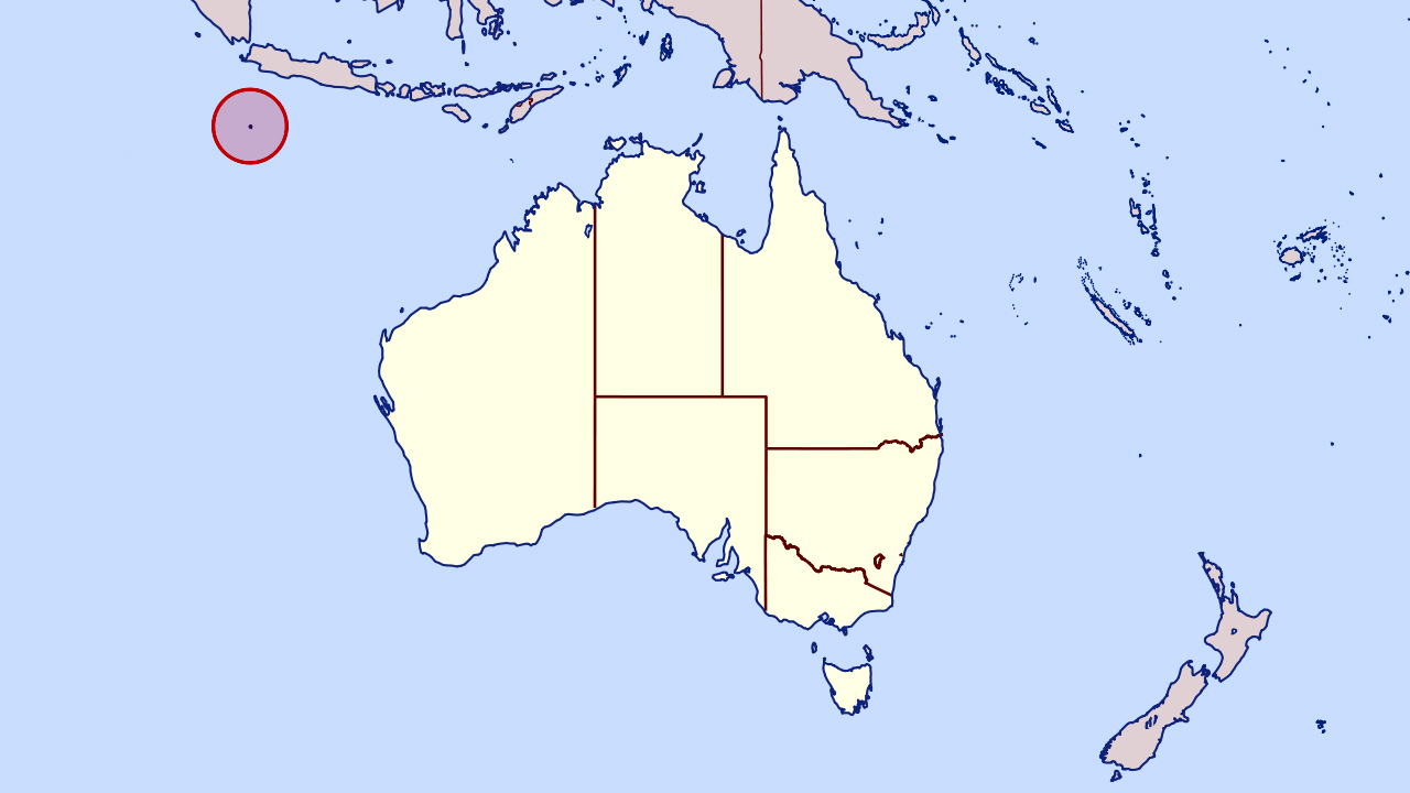 large location map of christmas island