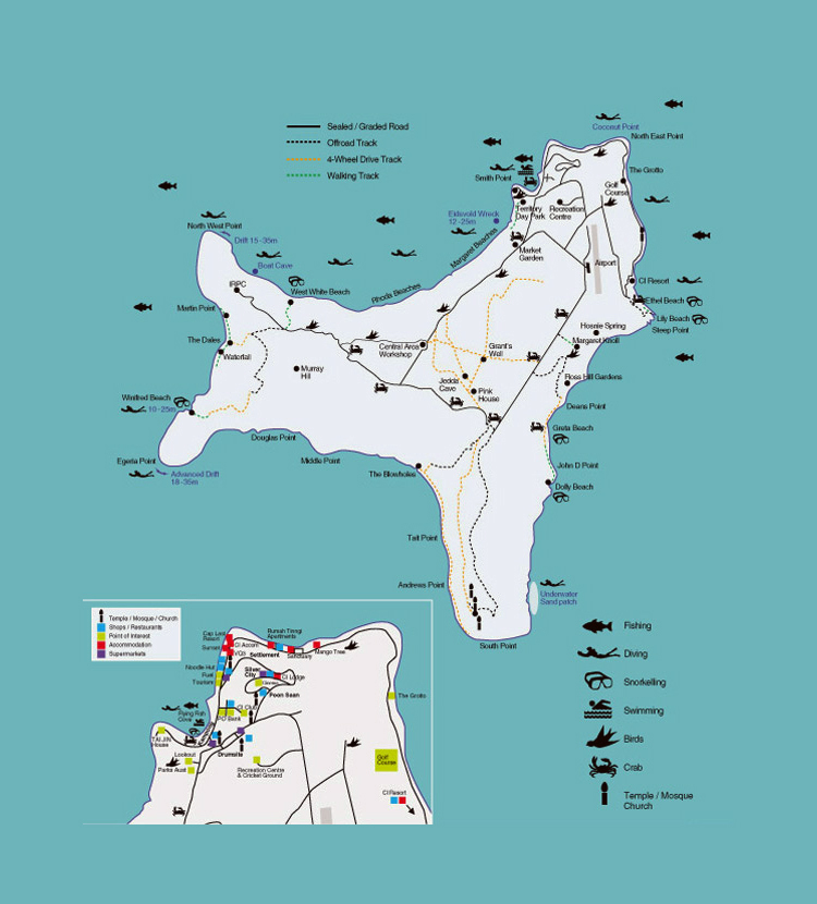 maps of christmas island detailed map of christmas island in