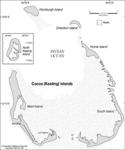 Large detailed map of Cocos Keeling Islands.