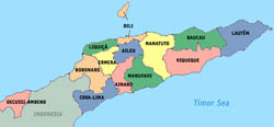 Large administrative map of East Timor.