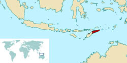 Large location map of East Timor.