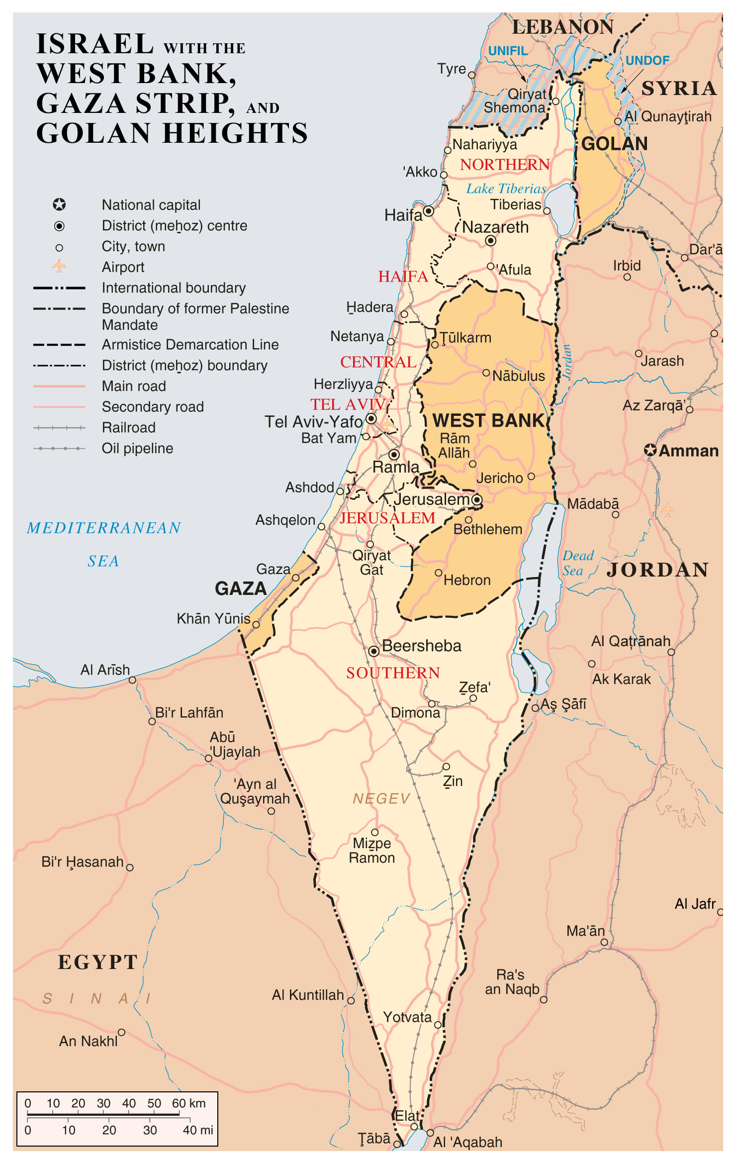 Maps of gaza strip detailed map of gaza strip in english road large detailed map of israel with the west bank gaza strip and golgan heights gumiabroncs Images