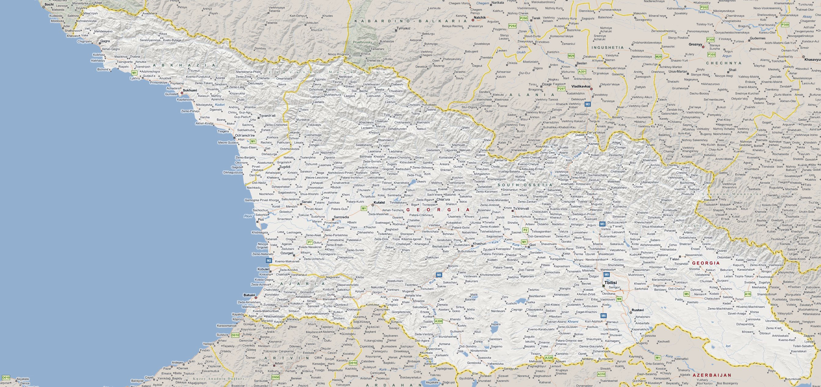 Maps Of Georgia Detailed Map Of Georgia In English Tourist Map - Large map of georgia