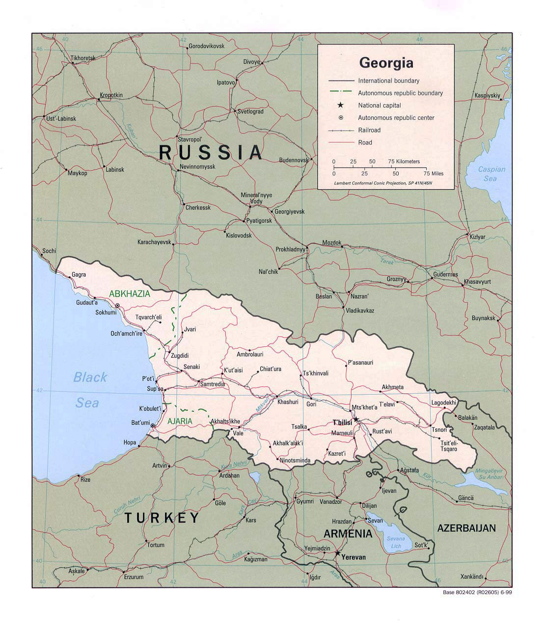 Map Of Georgia With Major Cities.Maps Of Georgia Detailed Map Of Georgia In English Tourist Map