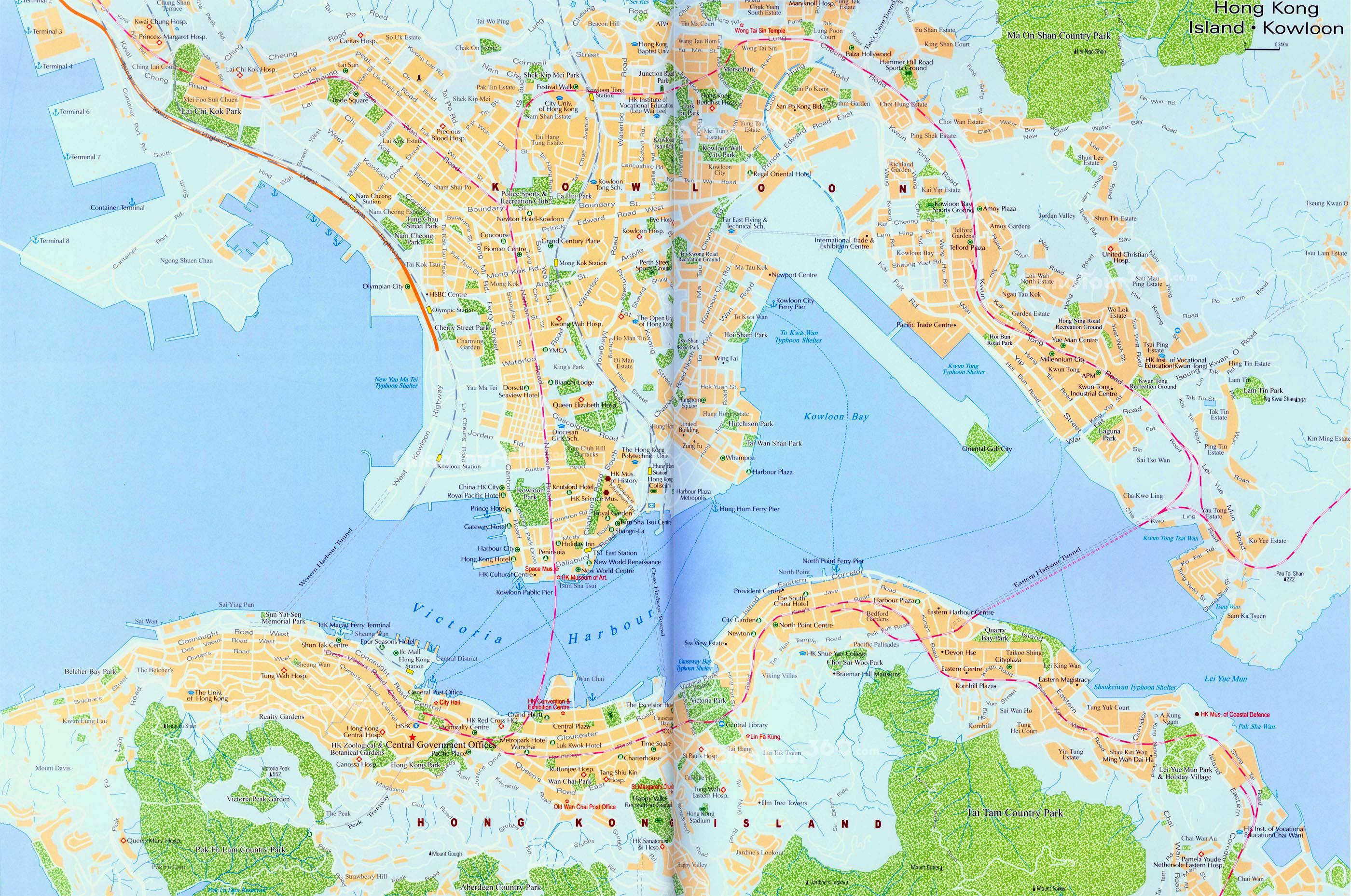 Maps Of Hong Kong Detailed Map Of Hong Kong In English Tourist