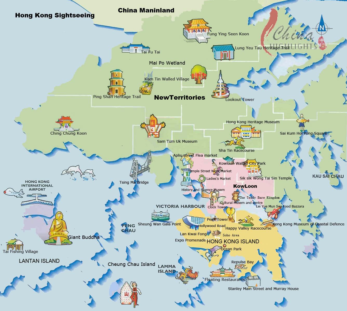 Maps of hong kong detailed map of hong kong in english tourist detailed tourist map of hong kong gumiabroncs Choice Image