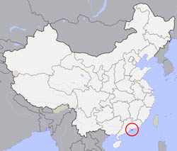 Large location map of Hong Kong.