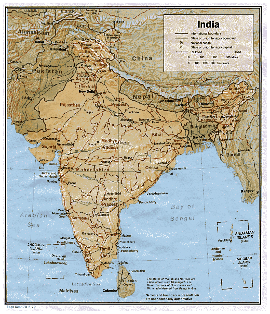 India Detailed Map - 2019 Edition