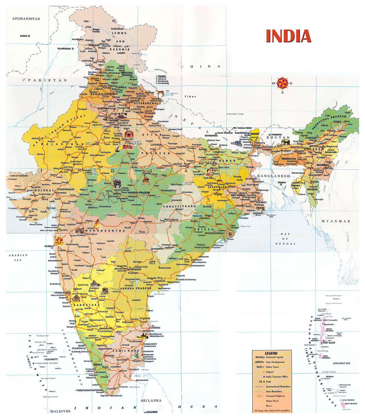 Maps of India | Detailed map of India in English | Tourist map of ...