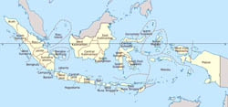 Large administrative map of Indonesia.