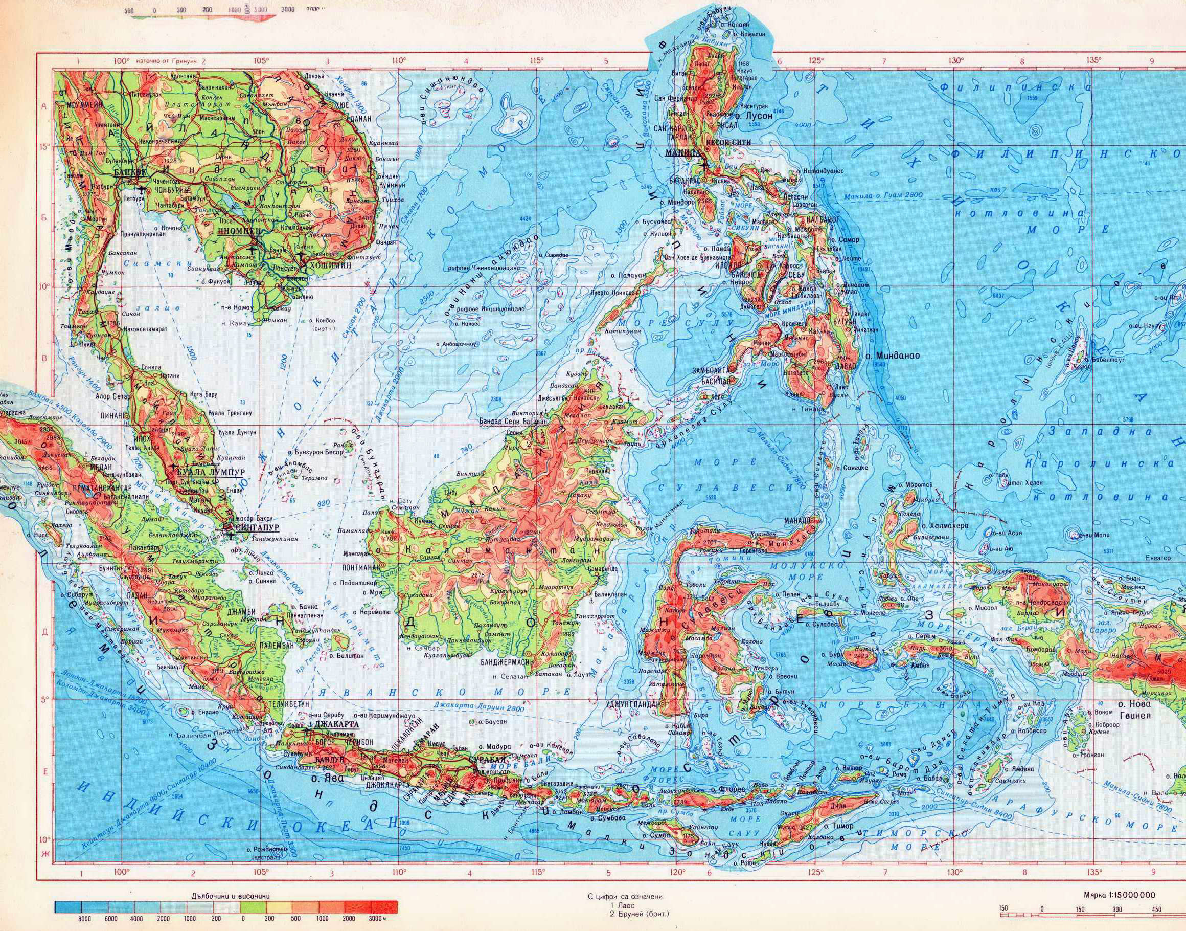 Maps of indonesia detailed map of indonesia in english tourist large detailed physical map of indonesia in russian gumiabroncs Gallery