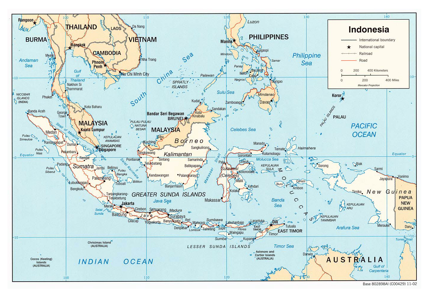 Maps of Indonesia Detailed map of Indonesia in English Tourist map of Ind