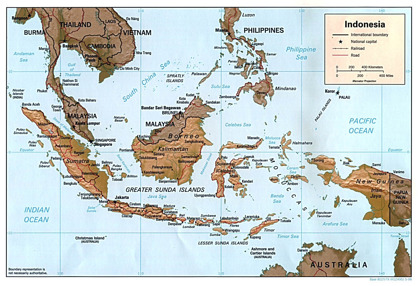 Maps Of Indonesia Detailed Map Of Indonesia In English Tourist - Indonesia maps with countries